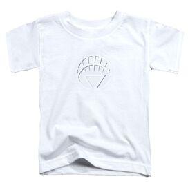 Green Lantern White Lantern Logo Short Sleeve Toddler Tee White Sm T-Shirt