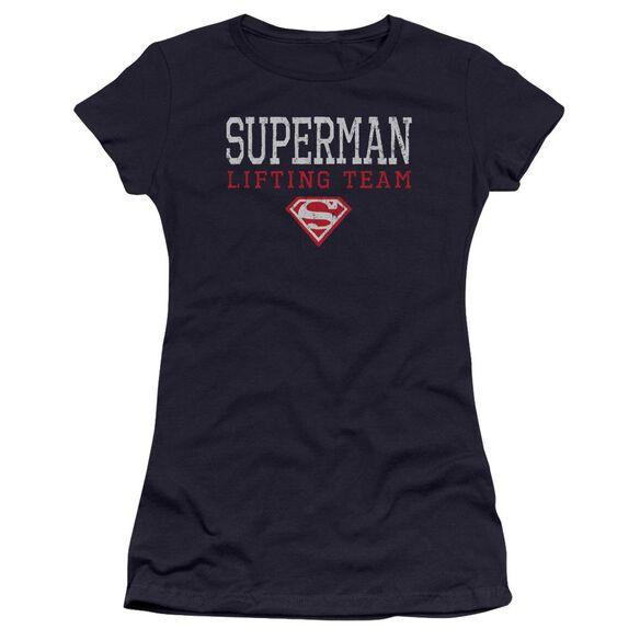 Superman Lifting Team Premium Bella Junior Sheer Jersey