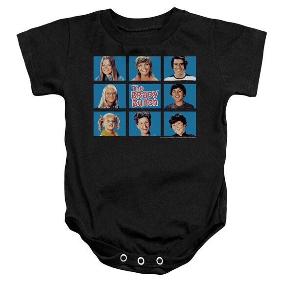 Brady Bunch Framed - Infant Snapsuit - Black - Md
