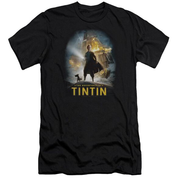 Tintin Poster Premuim Canvas Adult Slim Fit