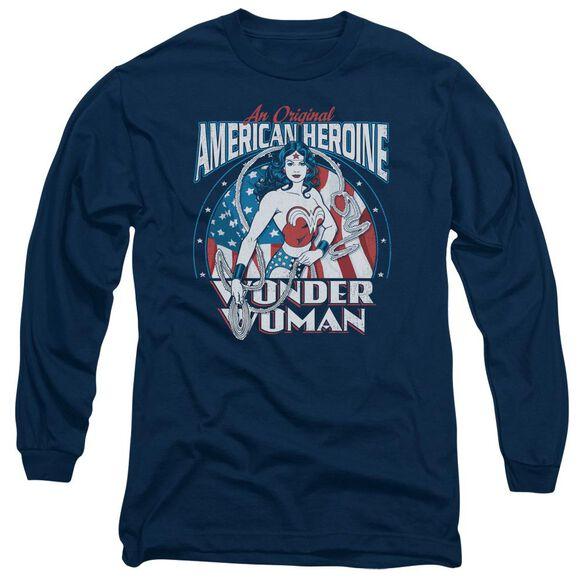Dc American Heroine Long Sleeve Adult T-Shirt