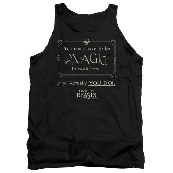Fantastic Beasts Magic To Work Here Adult Tank