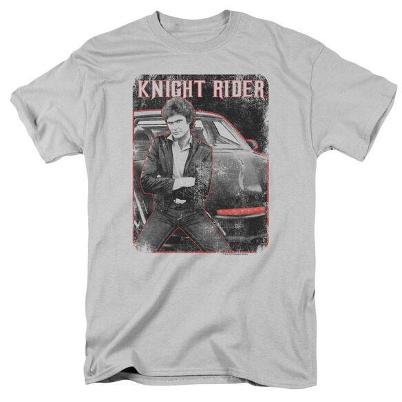 Knight Rider Knight And Kitt Short Sleeve Adult T-Shirt