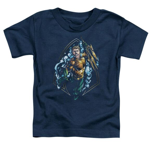 Jla Thrashing Short Sleeve Toddler Tee Navy T-Shirt