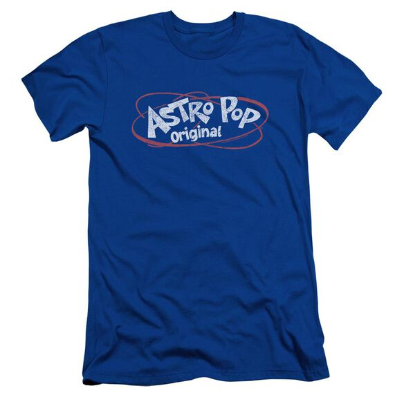 Astro Pop Vintage Logo Short Sleeve Adult Royal T-Shirt