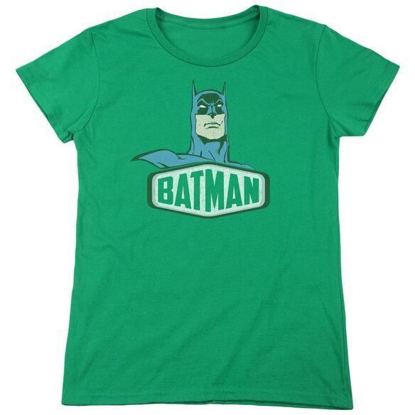 Dco Batman Sign Short Sleeve Womens Tee Kelly T-Shirt