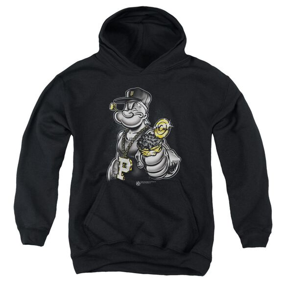 Popeye Get More Spinach Youth Pull Over Hoodie