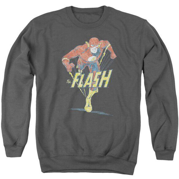 Dco Desaturated Flash Adult Crewneck Sweatshirt