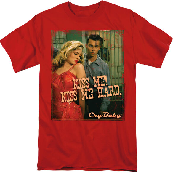 CRY BABY KISS ME - S/S ADULT 18/1 - RED T-Shirt