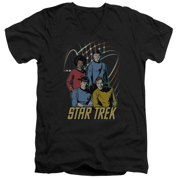 Star Trek Warp Factor 4 Short Sleeve Adult V Neck T-Shirt