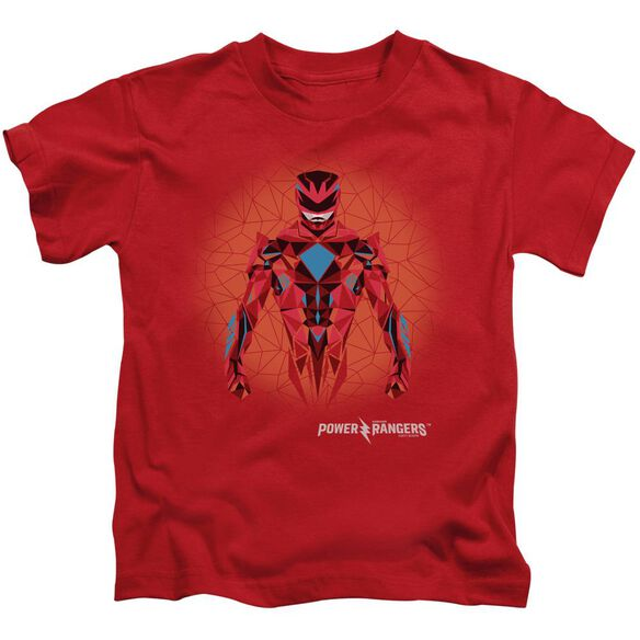 Power Rangers Red Power Ranger Graphic Short Sleeve Juvenile Red T-Shirt