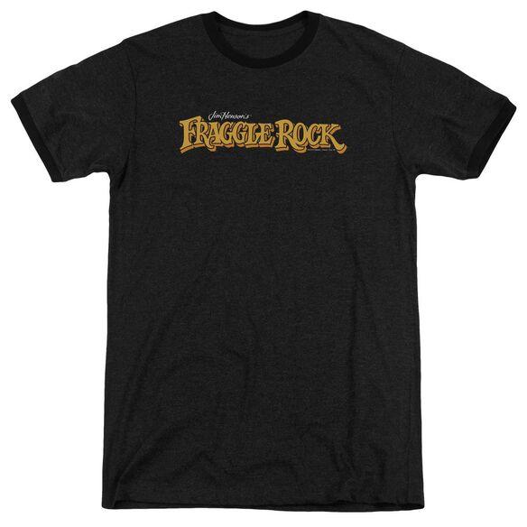 Fraggle Rock Logo Adult Heather Ringer