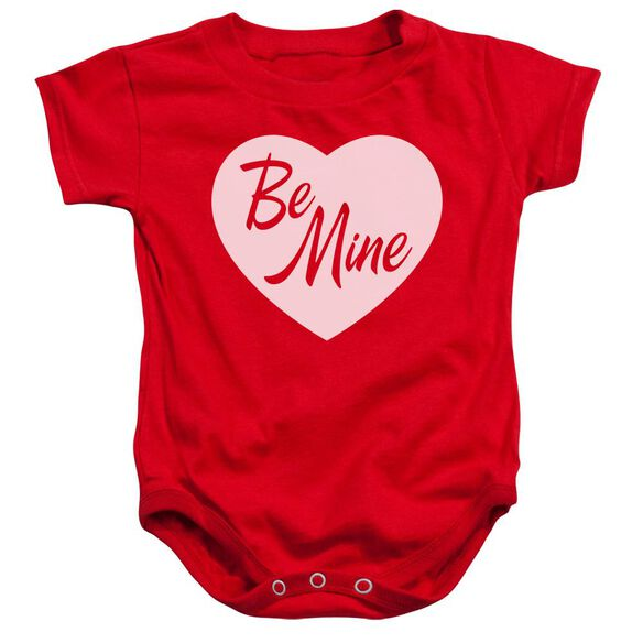 Be Mine Infant Snapsuit Red Lg