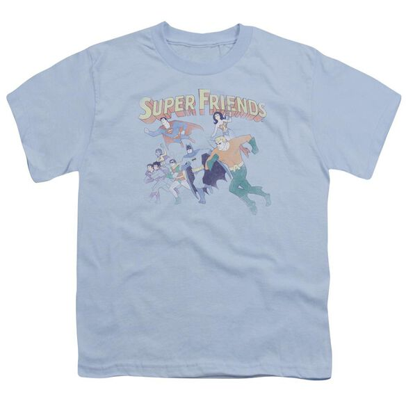 Dc Super Friends Short Sleeve Youth Light T-Shirt