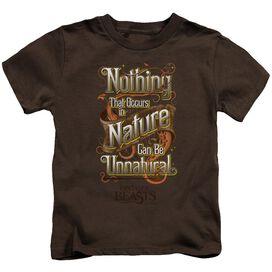 Fantastic Beasts Unnatural Short Sleeve Juvenile Coffee T-Shirt