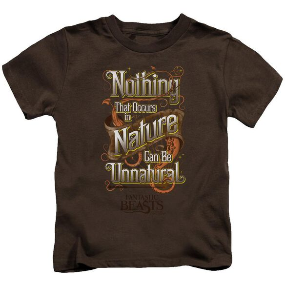 Fantastic Beasts Unnatural Short Sleeve Juvenile Coffee T-Shirt