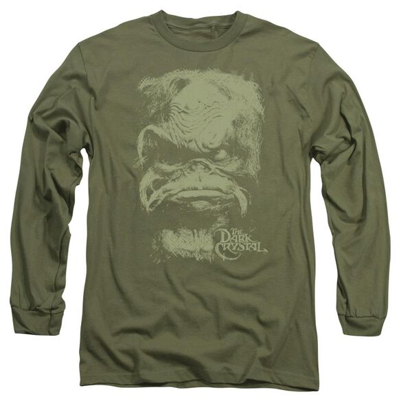 Dark Crystal Aughra Long Sleeve Adult Military T-Shirt