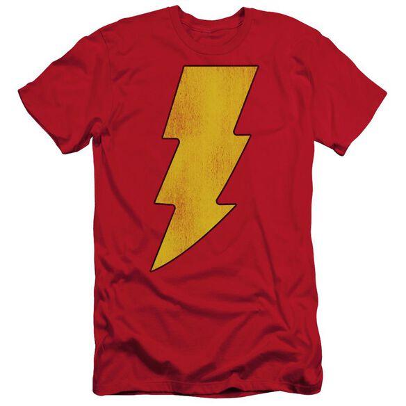 Dc Shazam Logo Distressed Short Sleeve Adult T-Shirt