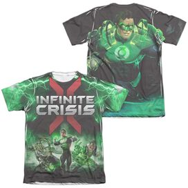 Infinite Crisis Ic Green Lantern (Front Back Print) Adult Poly Cotton Short Sleeve Tee T-Shirt
