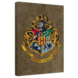Harry Potter Hogwarts Crest Canvas Wall Art With Back Board