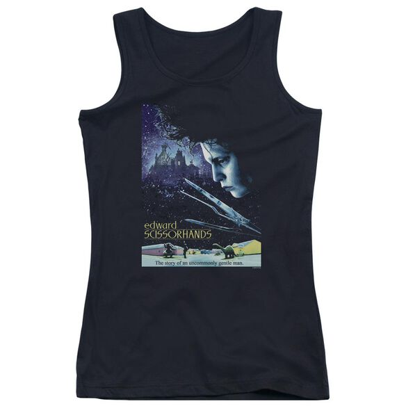 Edward Scissorhands Poster Juniors Tank Top