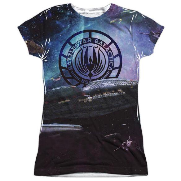 Bsg (New) Star Crusing Short Sleeve Junior Poly Crew T-Shirt