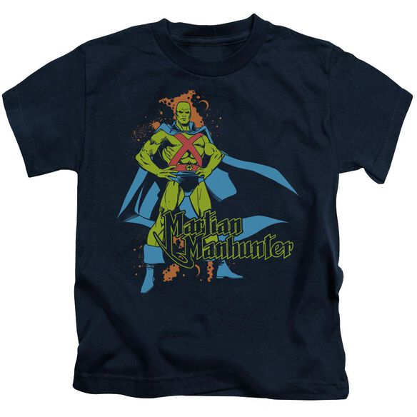 Dc Martian Manhunter Short Sleeve Juvenile Navy T-Shirt