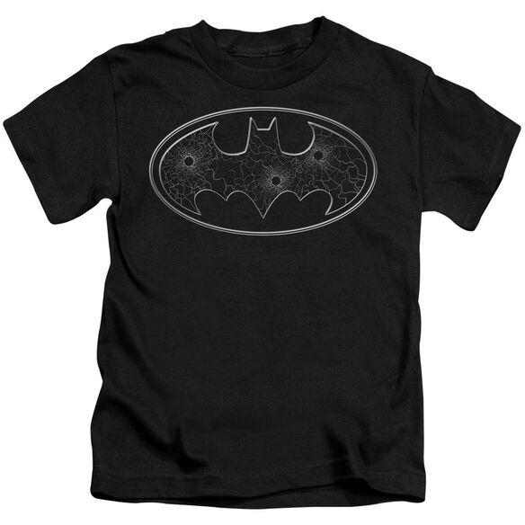 Batman Glass Hole Logo Short Sleeve Juvenile T-Shirt