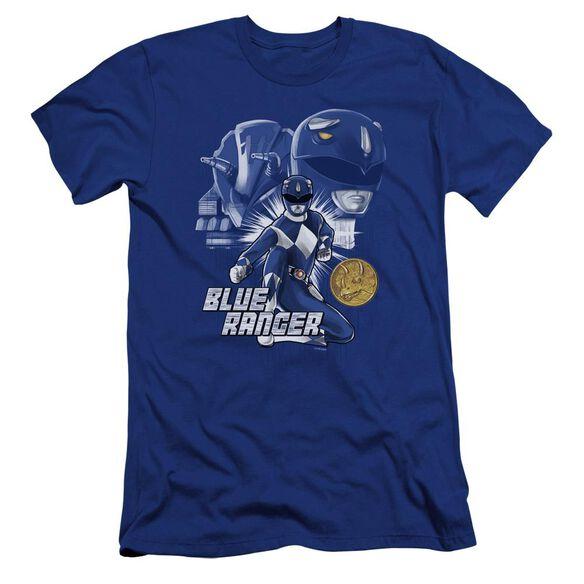 Power Rangers Ranger Hbo Short Sleeve Adult Royal T-Shirt