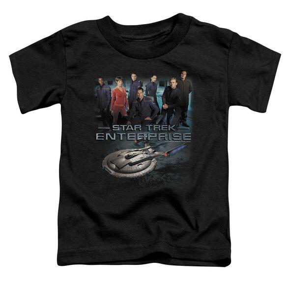 STAR TREK ENTERPRISE CREW - S/S TODDLER TEE - BLACK - T-Shirt