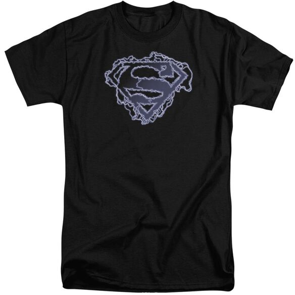 Superman Electric Supes Shield Short Sleeve Adult Tall T-Shirt