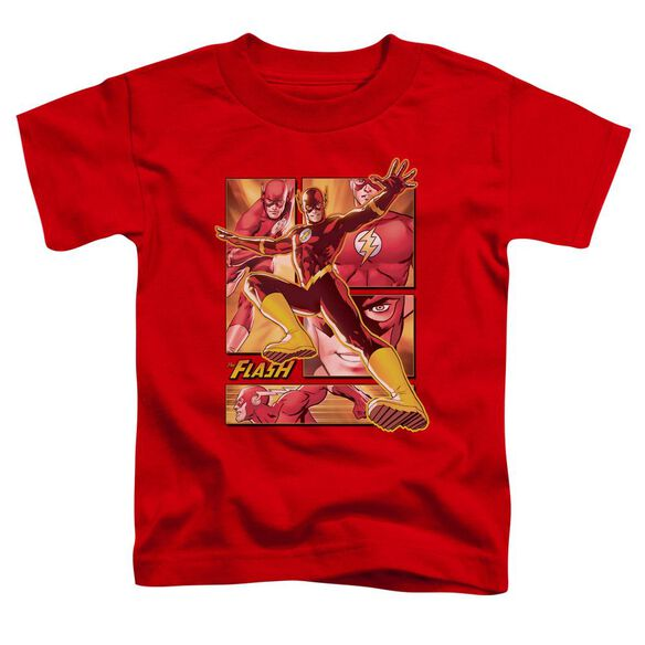 Jla Flash Short Sleeve Toddler Tee Red Sm T-Shirt