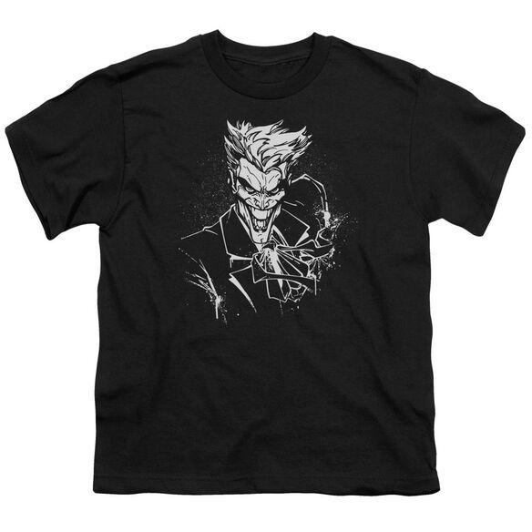Batman Joker's Splatter Smile Short Sleeve Youth T-Shirt