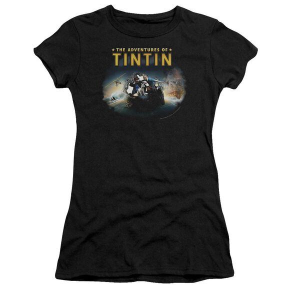 Tintin Journey Short Sleeve Junior Sheer T-Shirt