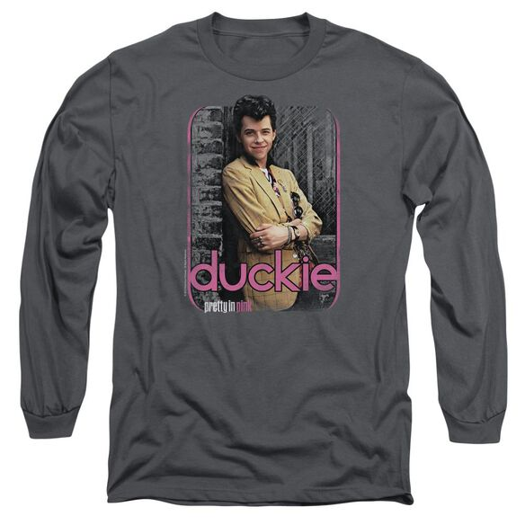 Pretty In Pink Just Duckie Long Sleeve Adult T-Shirt