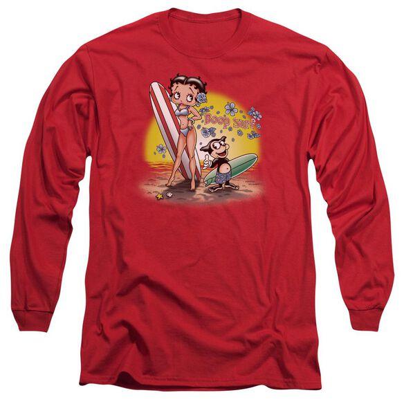 Betty Boop Surf Long Sleeve Adult T-Shirt