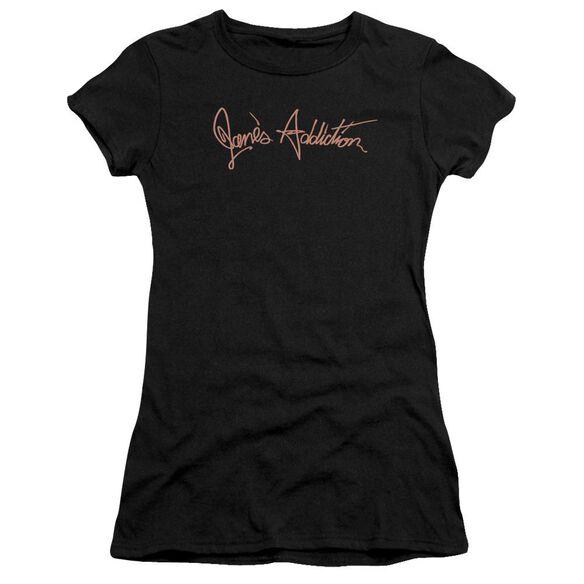 Janes Addiction Script Logo Premium Bella Junior Sheer Jersey