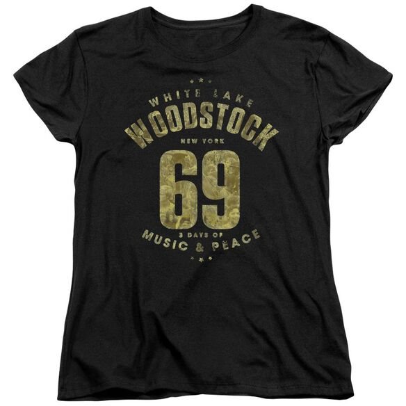 Woodstock White Lake Short Sleeve Womens Tee T-Shirt