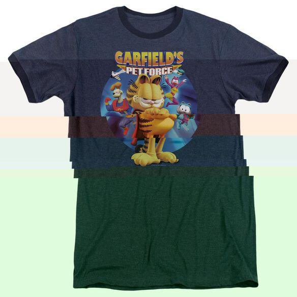 Garfield DVD Art - Adult Heather Ringer - Navy