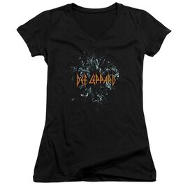 Def Leppard Broken Glass Junior V Neck T-Shirt