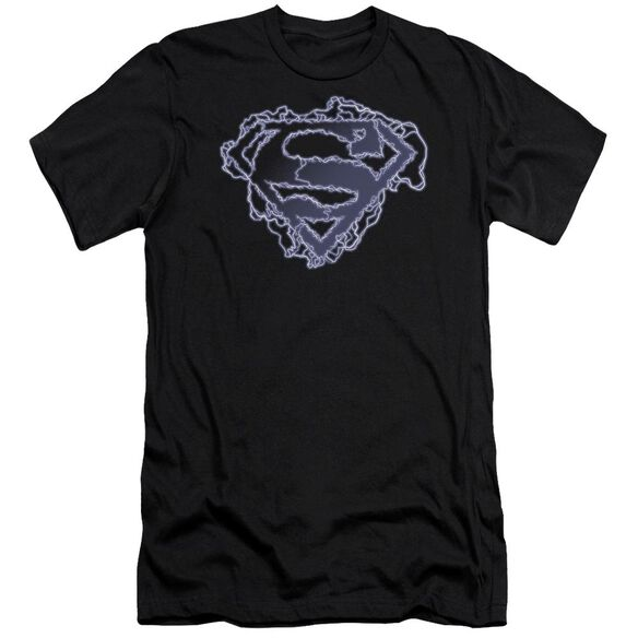 Superman Electric Supes Shield Premuim Canvas Adult Slim Fit