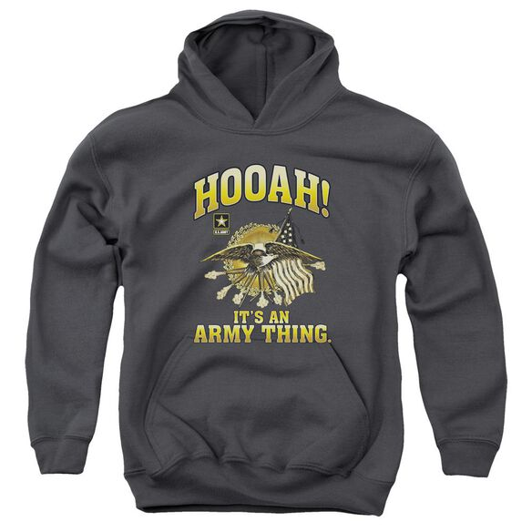 Army Hooah Youth Pull Over Hoodie
