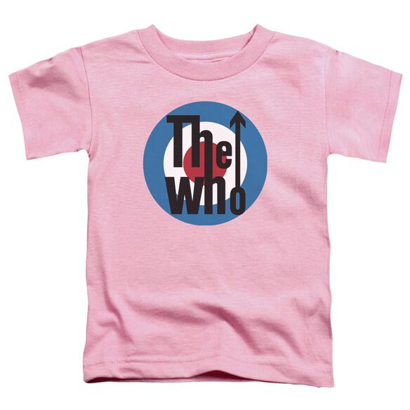 The Who Logo Short Sleeve Toddler Tee Pink T-Shirt