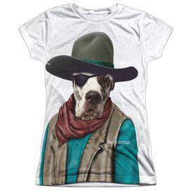 Pets Rock Cowboy Short Sleeve Junior Poly Crew T-Shirt