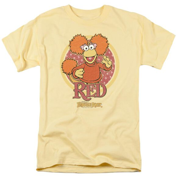 Fraggle Rock Red Circle Short Sleeve Adult T-Shirt