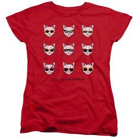Reo Speedwagon Cattitude Short Sleeve Women's Tee Red T-Shirt