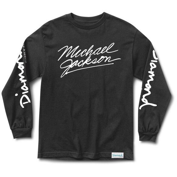 Diamond- Michael Jackson Long Sleeve T-Shirt