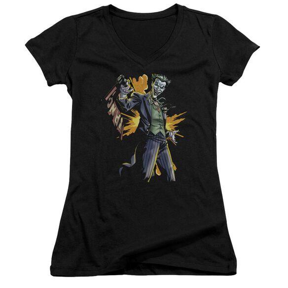Batman Joker Bang Junior V Neck T-Shirt
