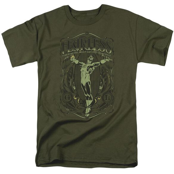 Dc Fearless Short Sleeve Adult Military Green T-Shirt