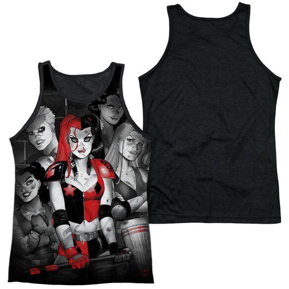 Batman Bad Girls Adult Poly Tank Top Black Back